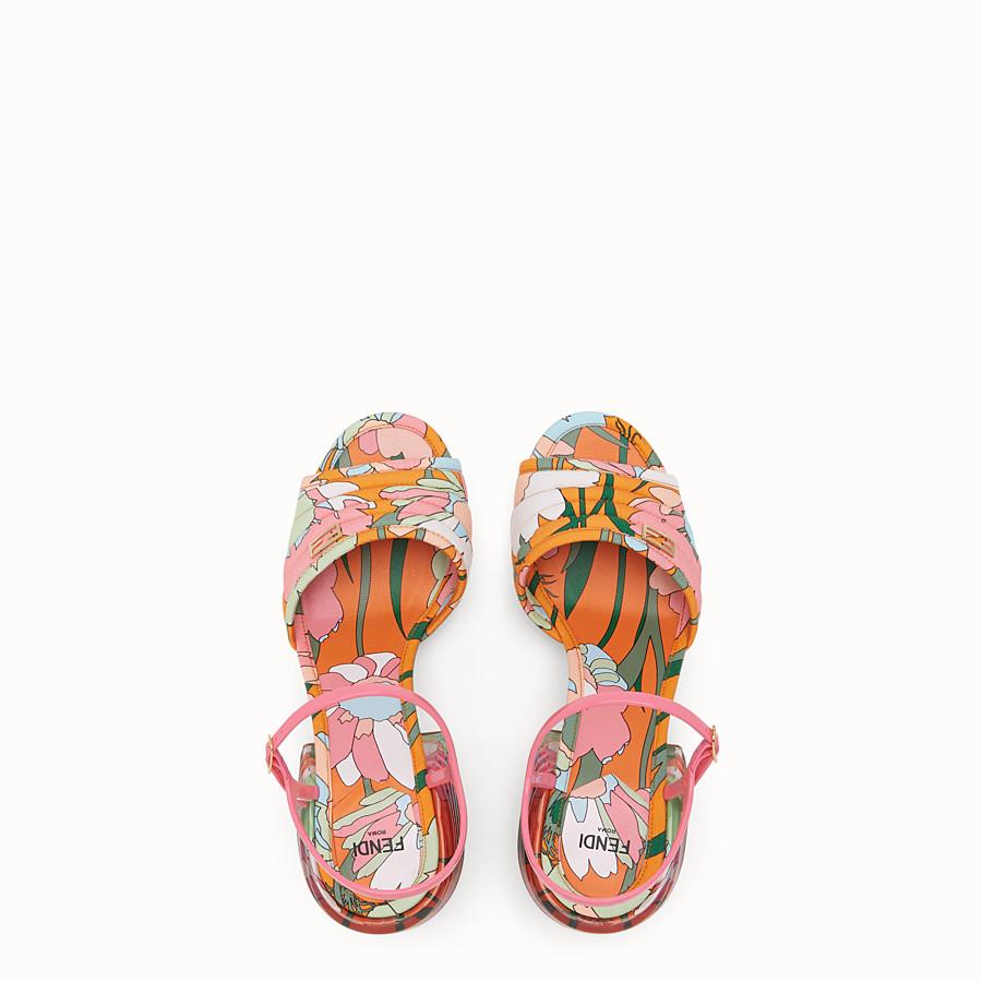 FENDI SLINGBACK - Multicolour cotton sandals - view 4 detail