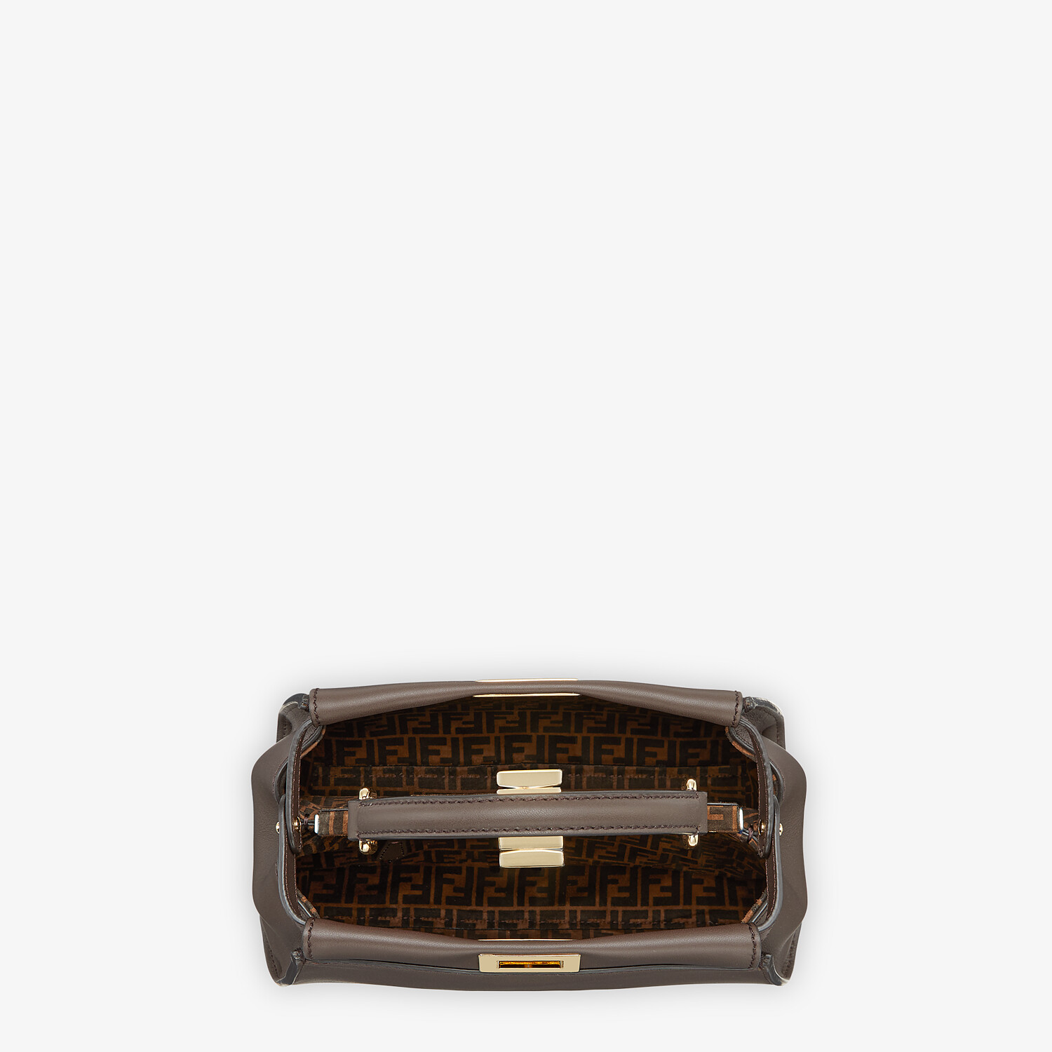 FENDI PEEKABOO ICONIC MINI -  Brown leather bag - view 4 detail