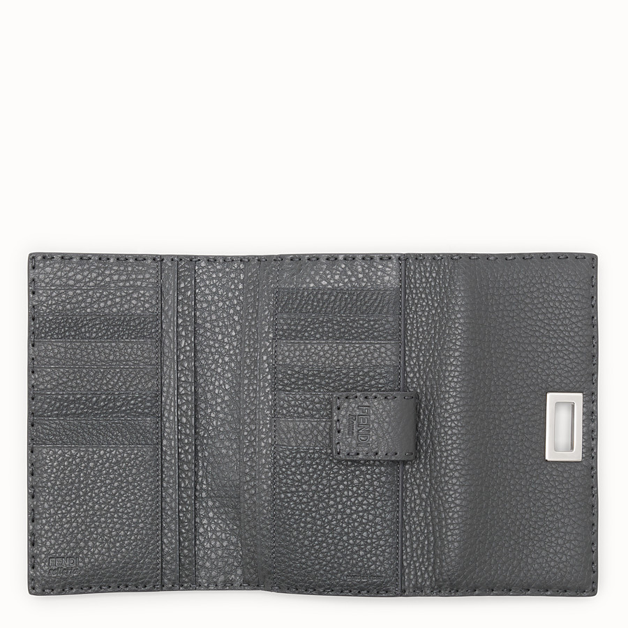 FENDI CONTINENTAL - Wallet in grey Roman leather - view 5 detail