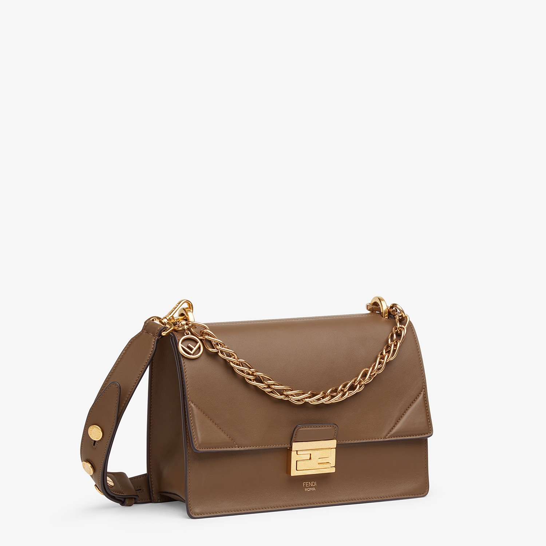 FENDI KAN U - Brown leather bag - view 3 detail