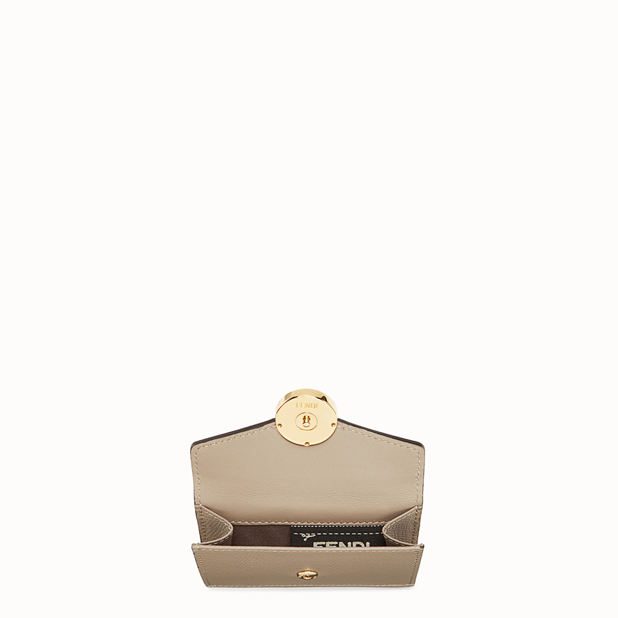 FENDI MICRO TRIFOLD - Beige leather wallet - view 4 detail