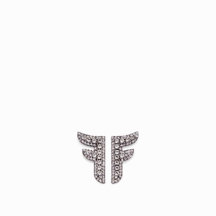FENDI FFREEDOM EARRINGS - Palladium-coloured earrings - view 1 detail