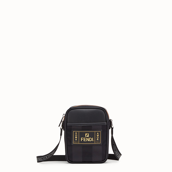 FENDI SMALL MESSENGER - Black canvas Cross-body bag - view 1 small thumbnail