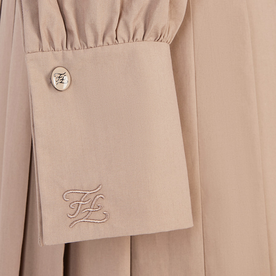 FENDI DRESS - Beige cotton taffeta dress - view 3 detail