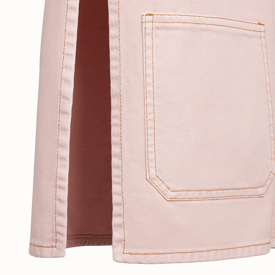 FENDI JACKET - Pink denim jacket - view 3 detail