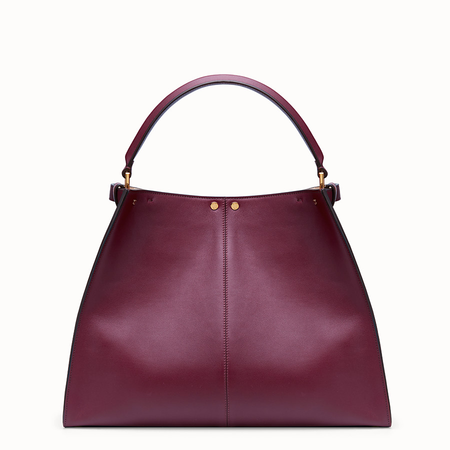 FENDI PEEKABOO X-LITE LARGE - Burgundy leather bag - view 5 detail