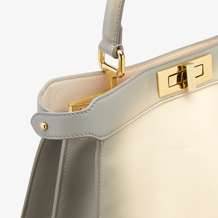 FENDI PEEKABOO ISEEU MEDIUM - White leather bag - view 7 detail