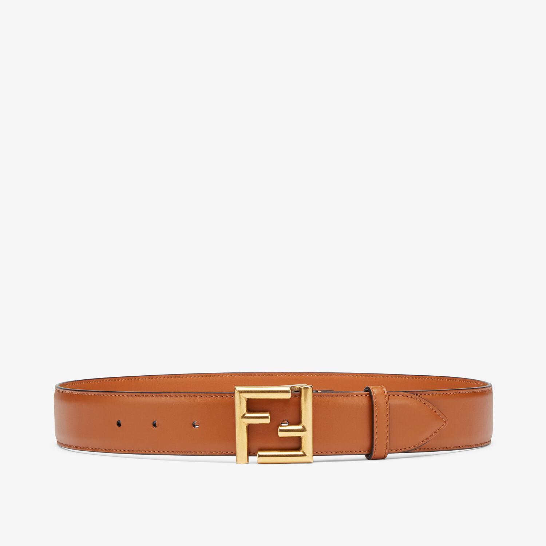FENDI BELT - Natural-colored leather belt - view 1 detail