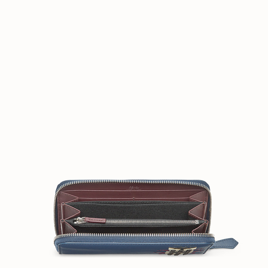 FENDI WALLET - Blue leather wallet - view 3 detail