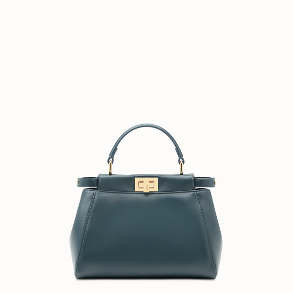 FENDI PEEKABOO MINI - Borsa in pelle verde - vista 1 thumbnail piccola