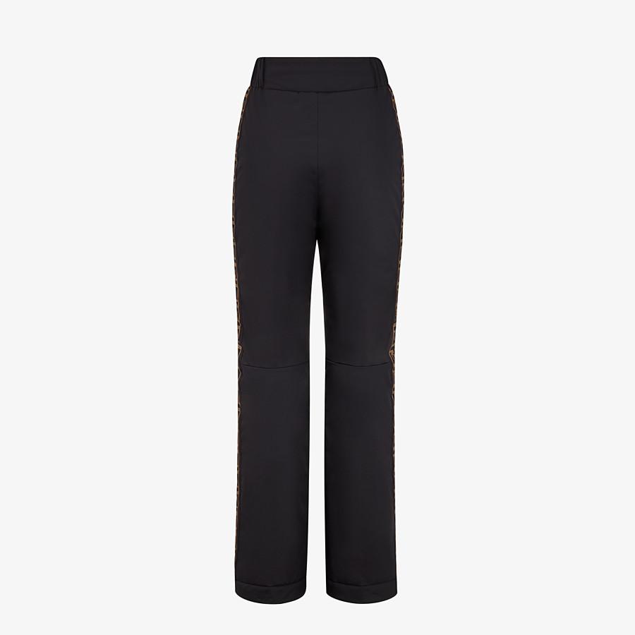 FENDI SKI PANTS - Black tech fabric pants - view 2 detail