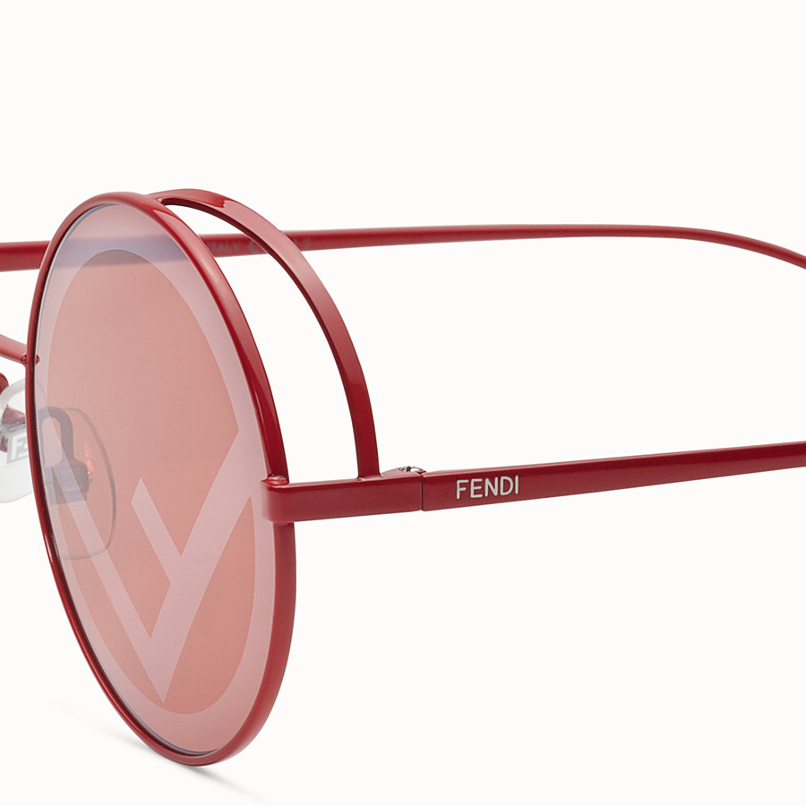 FENDI FENDIRAMA - Red sunglasses - view 3 detail