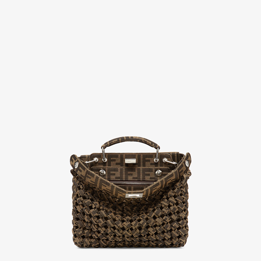 FENDI PEEKABOO ISEEU MINI - Brown fabric bag - view 1 detail
