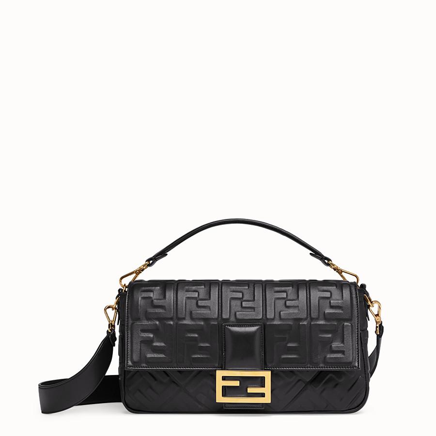 61f71d7e907b Black leather bag - BAGUETTE LARGE