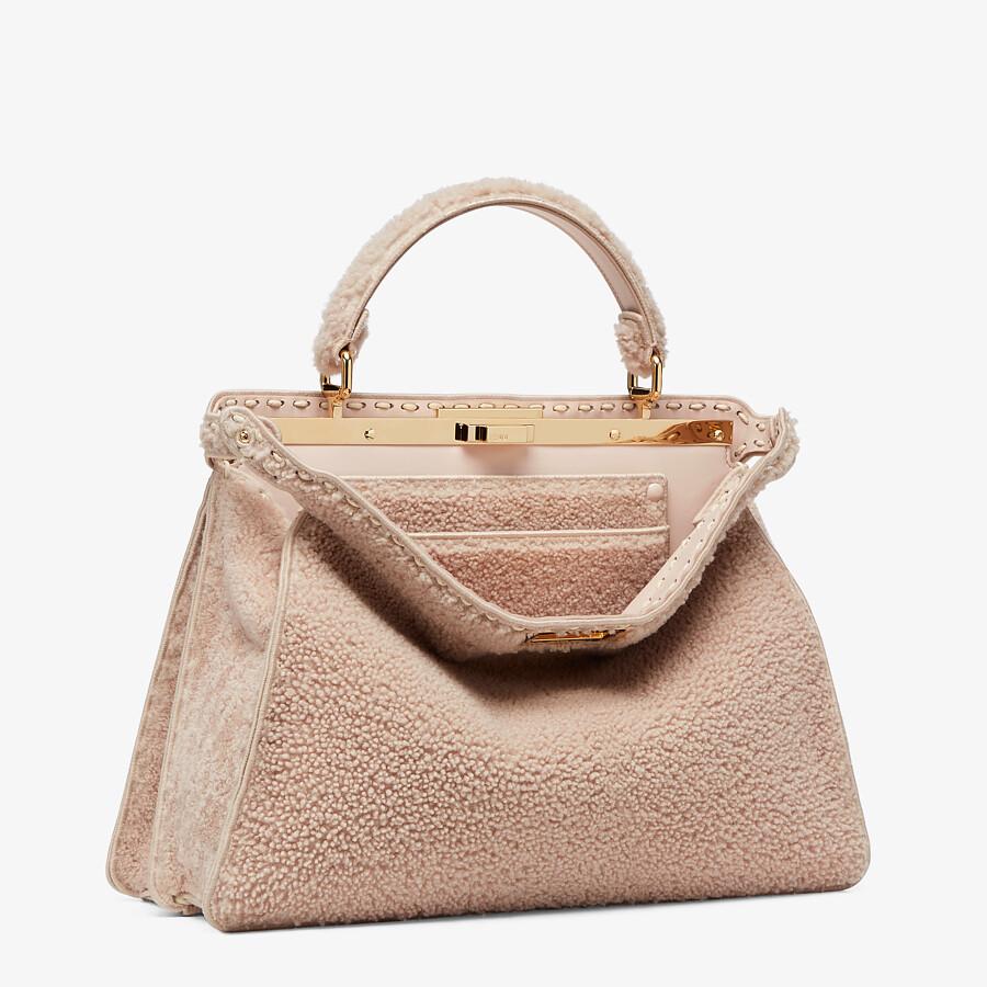 FENDI PEEKABOO ISEEU LARGE - Pink sheepskin bag - view 5 detail