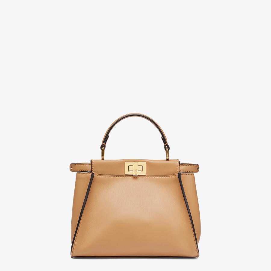 FENDI PEEKABOO MINI - Beige leather bag - view 1 detail