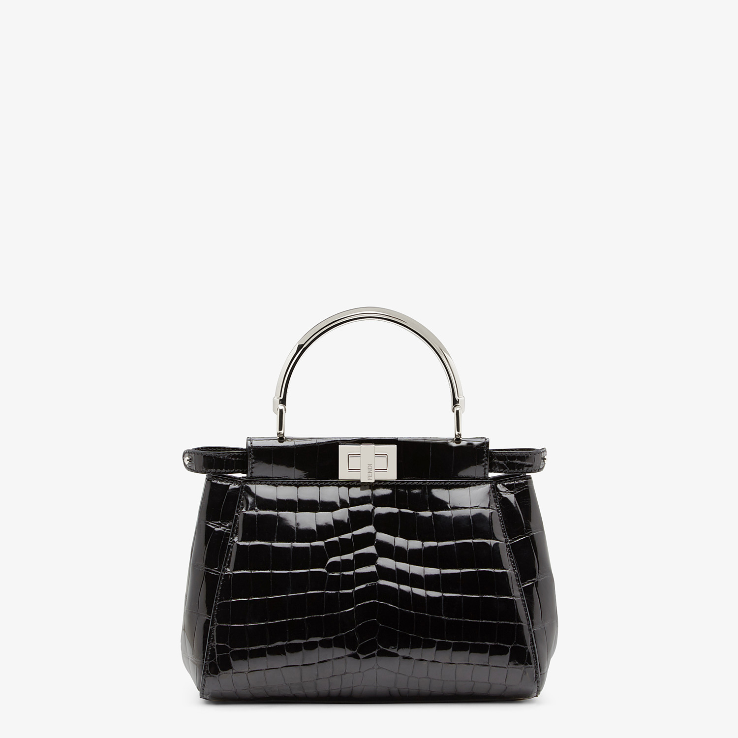 FENDI PEEKABOO ICONIC MINI - Black crocodile bag - view 1 detail