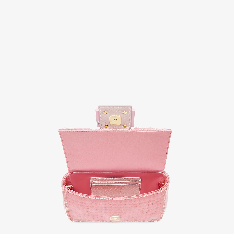 FENDI MINI BAGUETTE 1997 - Pink satin bag with sequins - view 5 detail