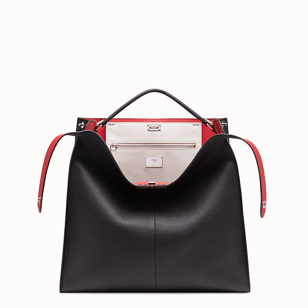 FENDI PEEKABOO X-LITE MEDIUM - Black leather bag - view 1 small thumbnail