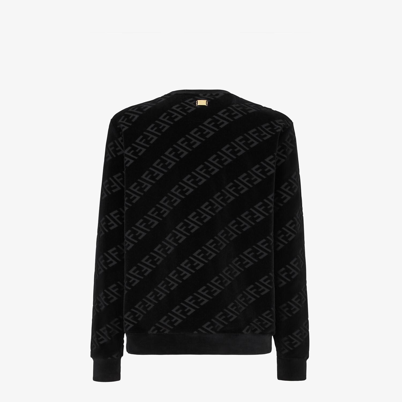 FENDI SWEATSHIRT - Black velvet sweatshirt - view 2 detail