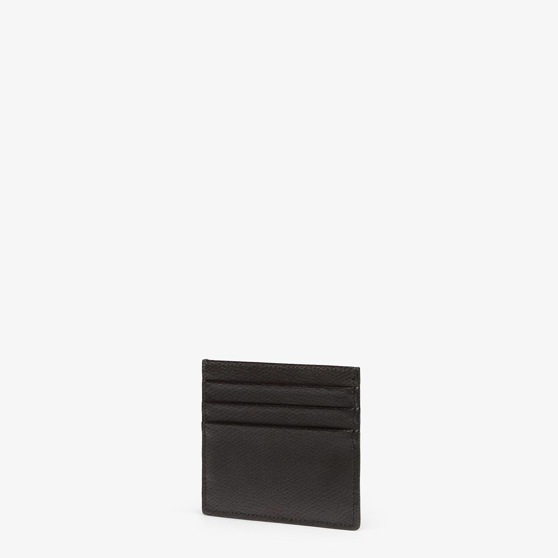 FENDI PORTACARTE - Porta carte piatto in pelle nera - vista 2 dettaglio