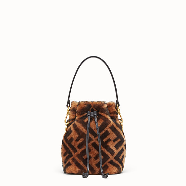 FENDI MON TRESOR - Mini sac en peau de mouton marron - view 1 small thumbnail