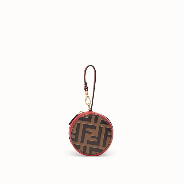 FENDI TOTE BAG CHARM - Red leather charm - view 1 small thumbnail