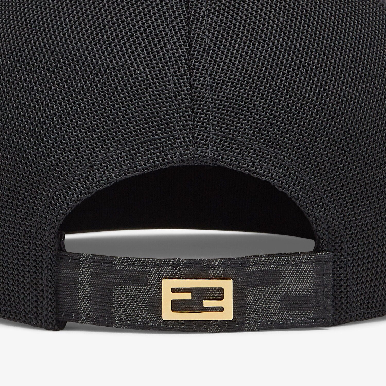 FENDI HAT - Gray fabric baseball cap - view 2 detail