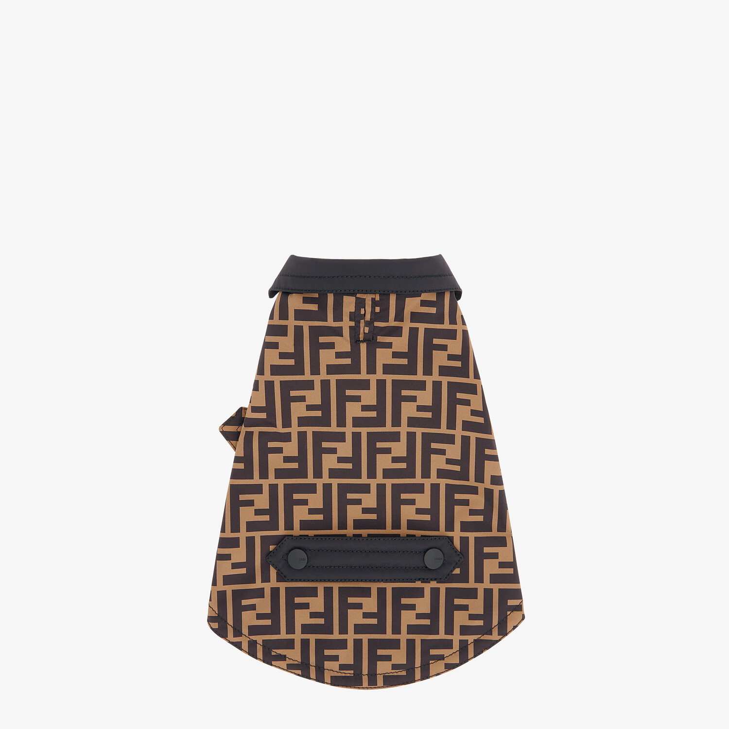 FENDI DOG COAT - Dog coat in brown FF nylon - view 2 detail