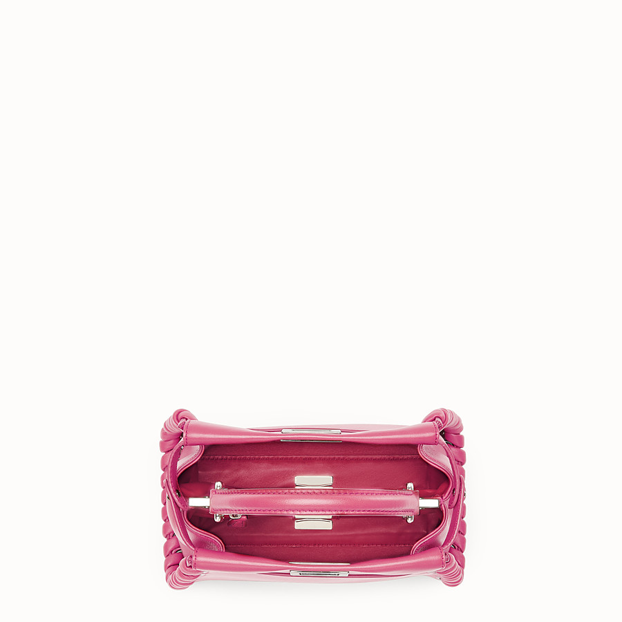 FENDI PEEKABOO MINI - Fuchsia leather bag - view 4 detail
