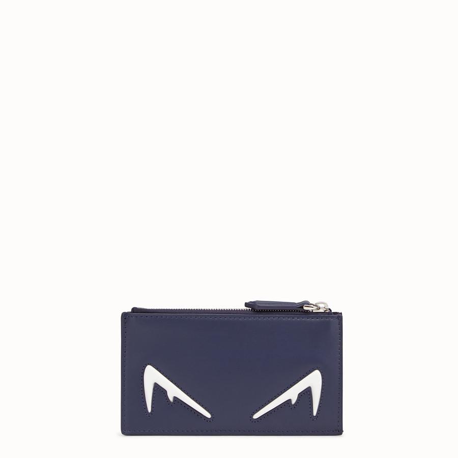 FENDI COIN PURSE - Blue leather coin purse - view 1 detail