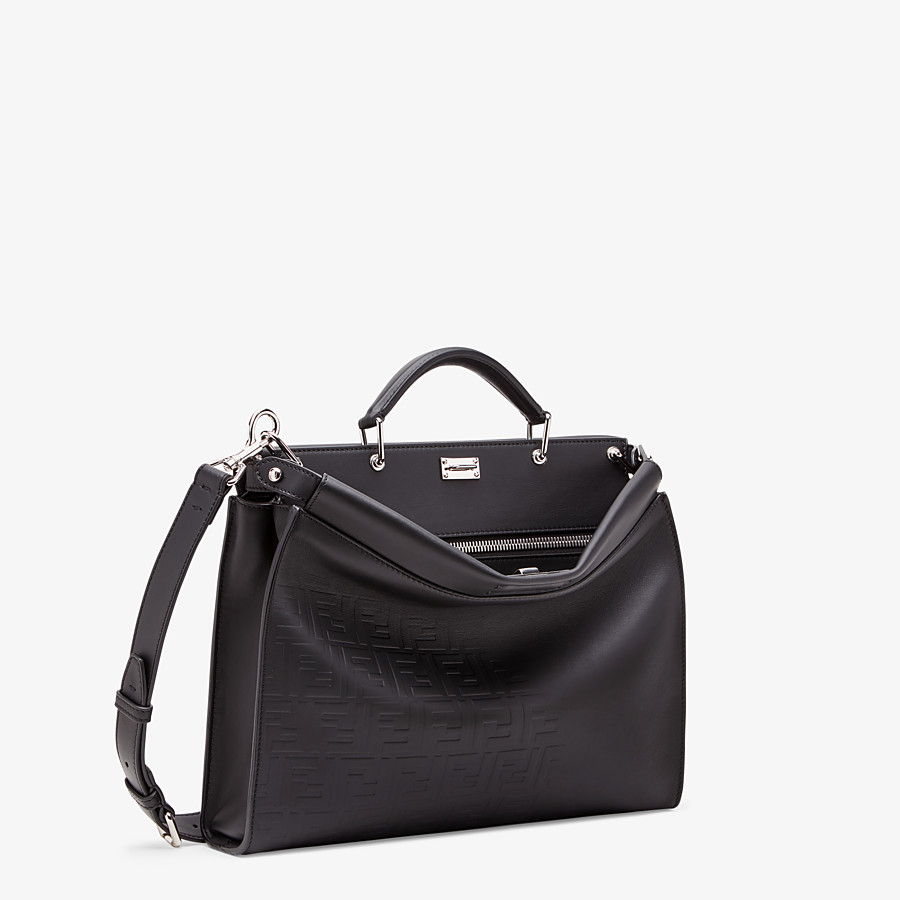 FENDI PEEKABOO ICONIC FIT - Black, calf leather bag - view 2 detail