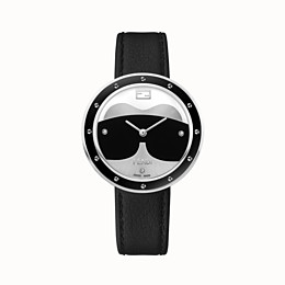 FENDI Fendi My Way Karlito - 36 mm - Watch with studs and fur Glamy - view 1 thumbnail