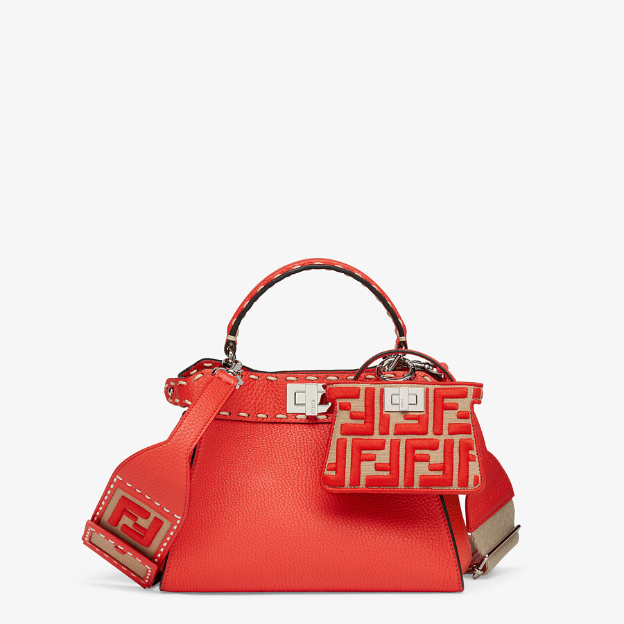 FENDI STRAP YOU - Beige and red ribbon shoulder strap - view 2 detail