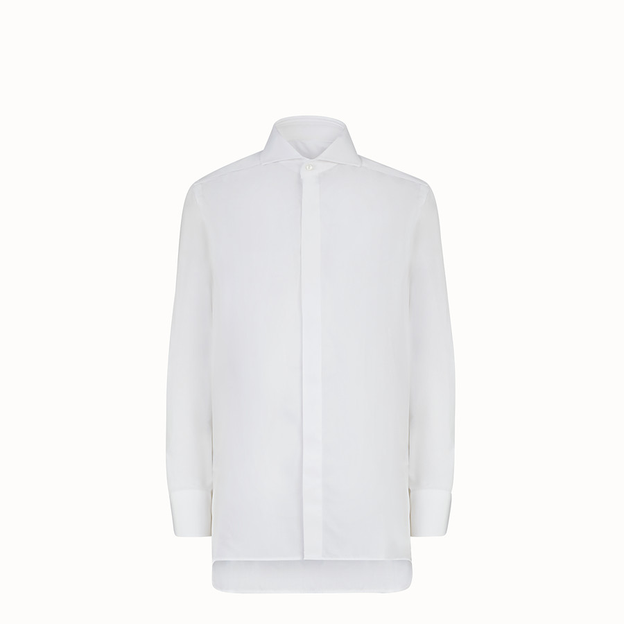 FENDI SHIRT - Shirt in white poplin - view 1 detail