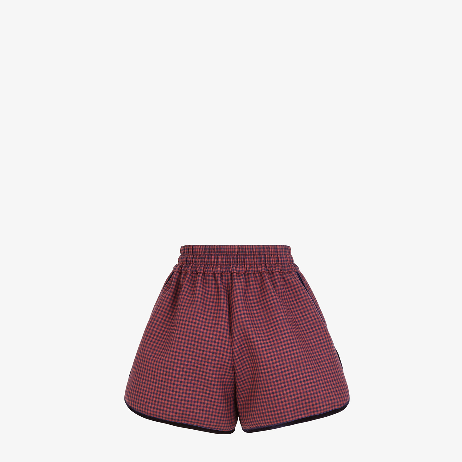 FENDI SHORTS - Check wool shorts - view 2 detail