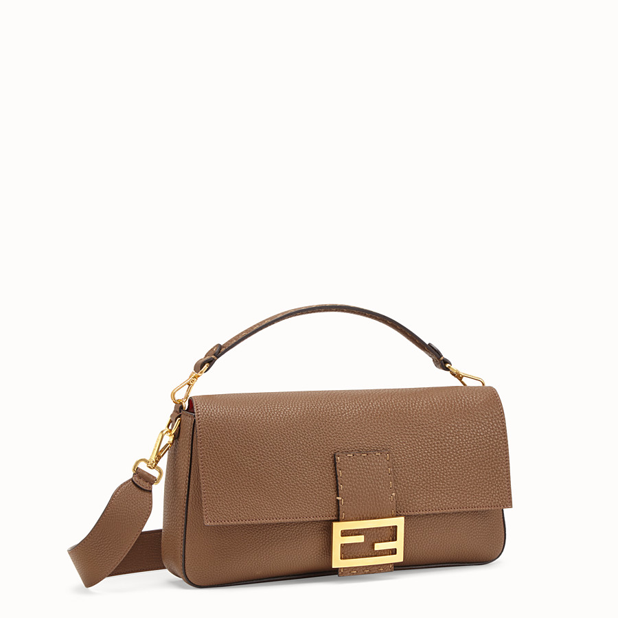 FENDI BAGUETTE LARGE - Sac en cuir marron - view 2 detail