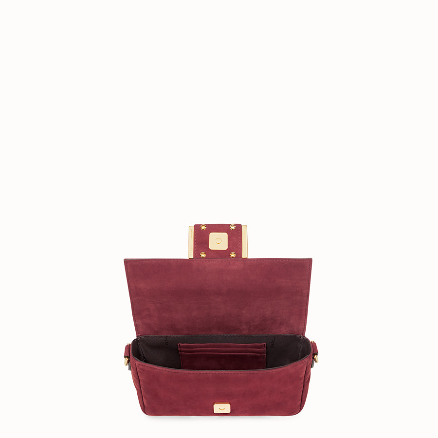 FENDI MINI BAGUETTE - Rosa Veloursleder-Tasche - view 4 detail