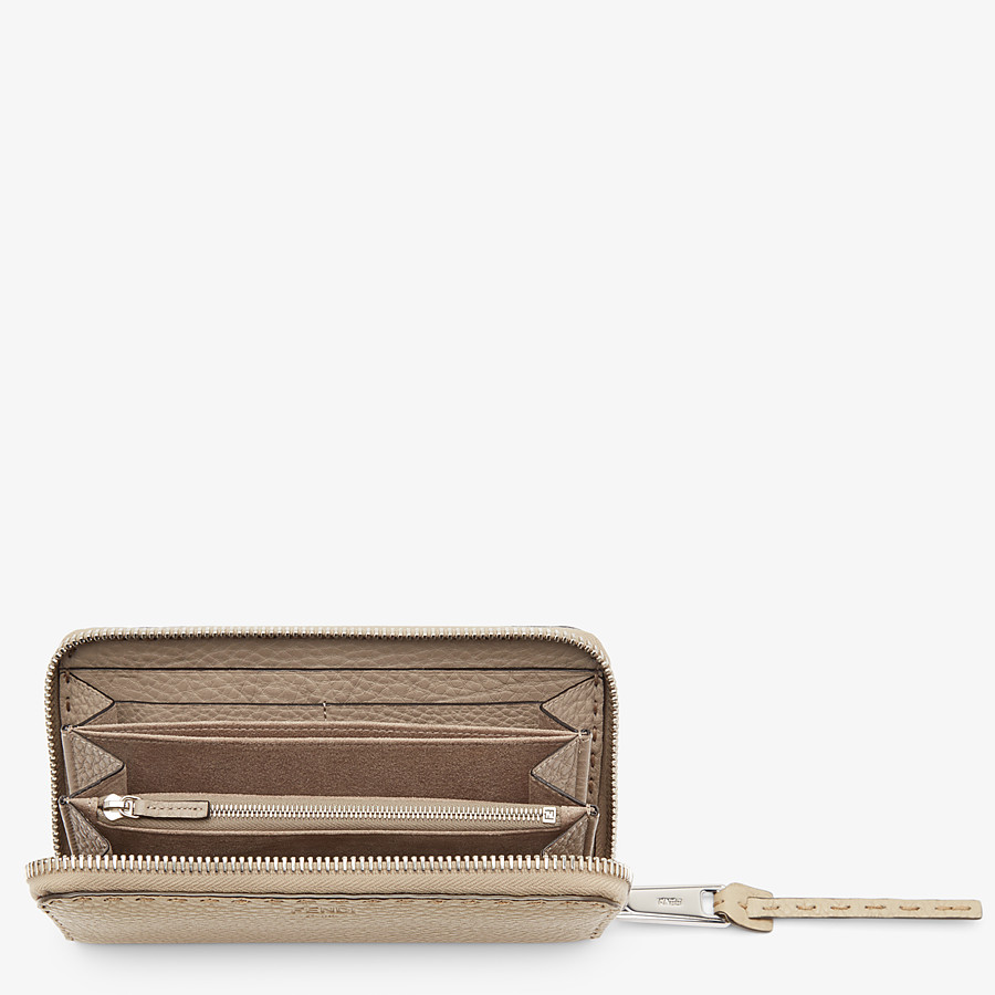 FENDI ZIP-AROUND - Selleria beige zip-around - view 4 detail
