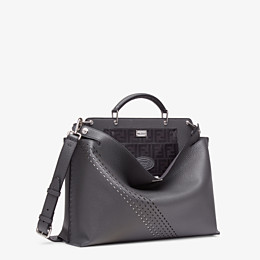 FENDI PEEKABOO ICONIC ESSENTIAL - Grey calf leather bag - view 2 thumbnail