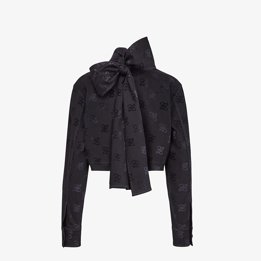 FENDI JACKET - Black denim jacket - view 2 detail