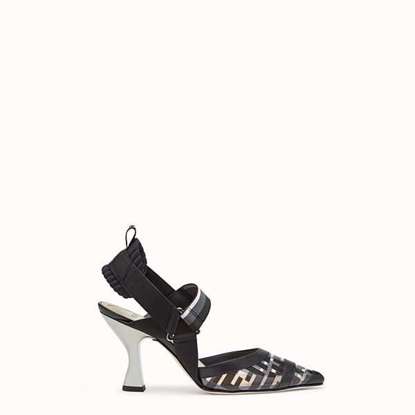FENDI COURT SHOES - Colibrì in PU and black leather - view 1 small thumbnail