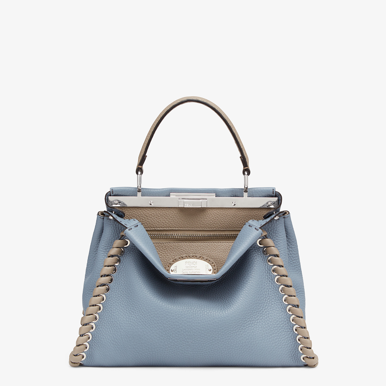 FENDI PEEKABOO ICONIC MEDIUM - Pale blue leather bag - view 1 detail