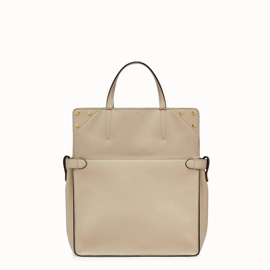 FENDI FENDI FLIP REGULAR - Beige leather bag - view 2 detail