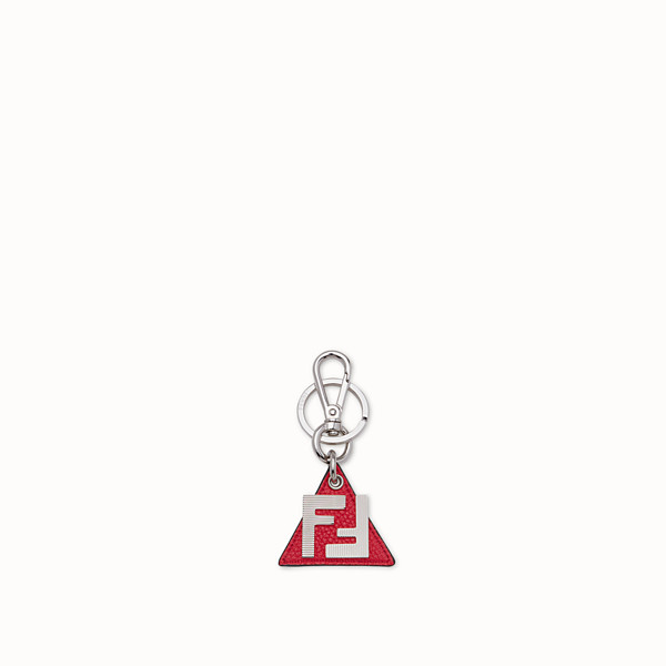 FENDI KEY RING - Red leather key ring - view 1 small thumbnail