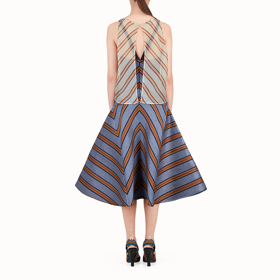 FENDI DRESS - Multicolour silk and jacquard dress - view 2 detail