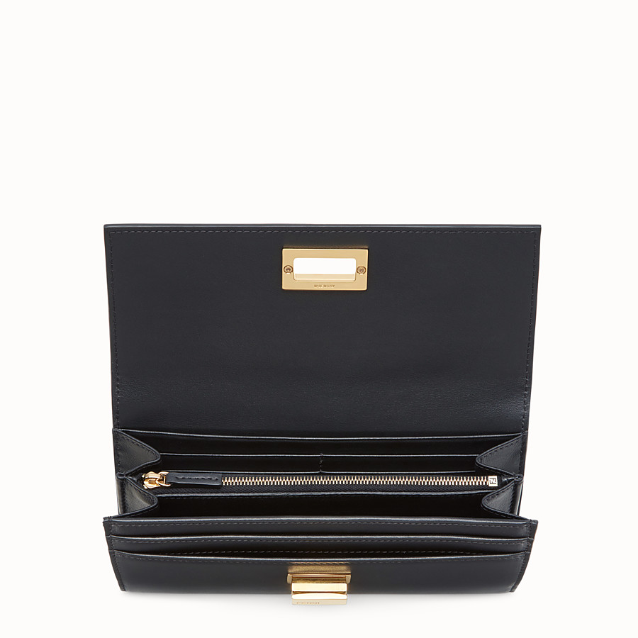 FENDI PEEKABOO CONTINENTAL WALLET - Continental wallet in black leather - view 4 detail