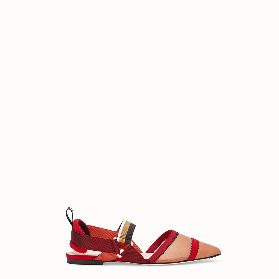 FENDI SLINGBACK - Red mesh sabots - view 1 detail