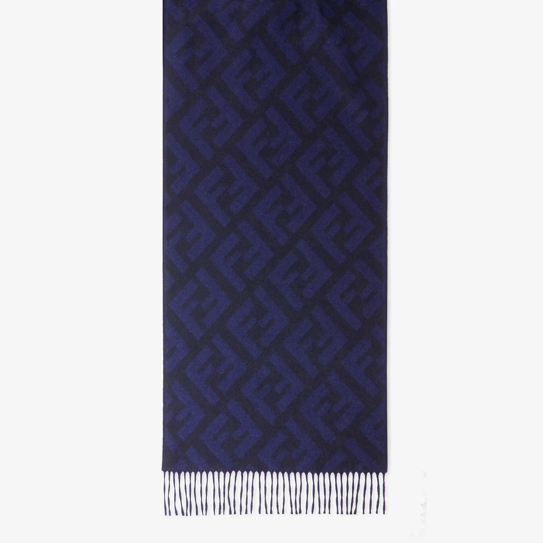 FENDI FF SCHAL - Schal aus Kaschmir in Blau - view 1 detail