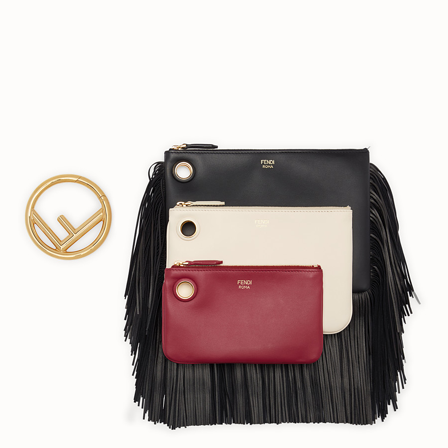 FENDI TRIPLETTE - Multicolour leather clutch - view 2 detail